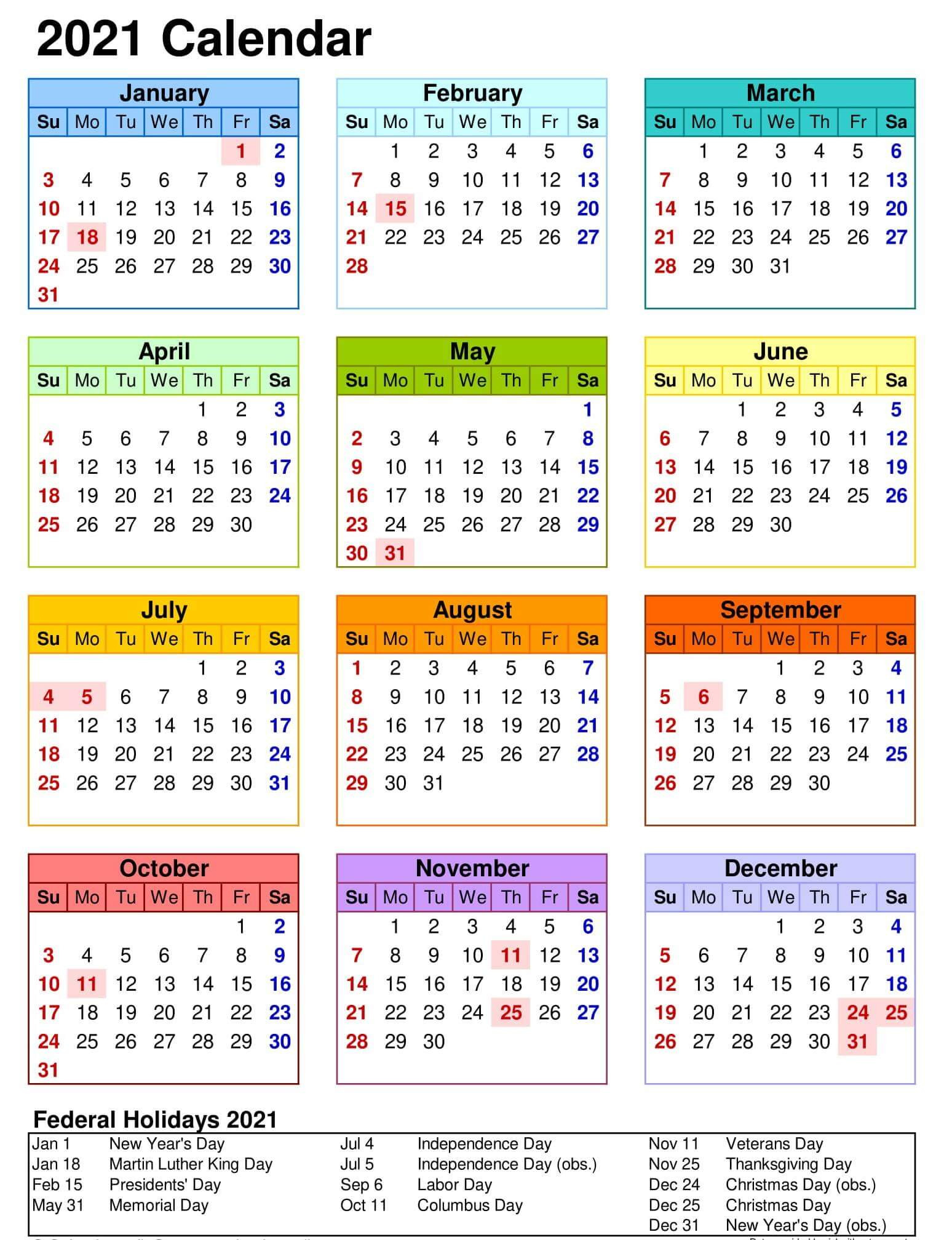 Yearly Calendar With Notes 2021 Editable Template - Set-Excel 2021 Calendar Vertical List