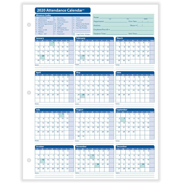 Yearly Employee Attendance Calendar | Yearly Calendar-Employee Attendance Calendar 2021