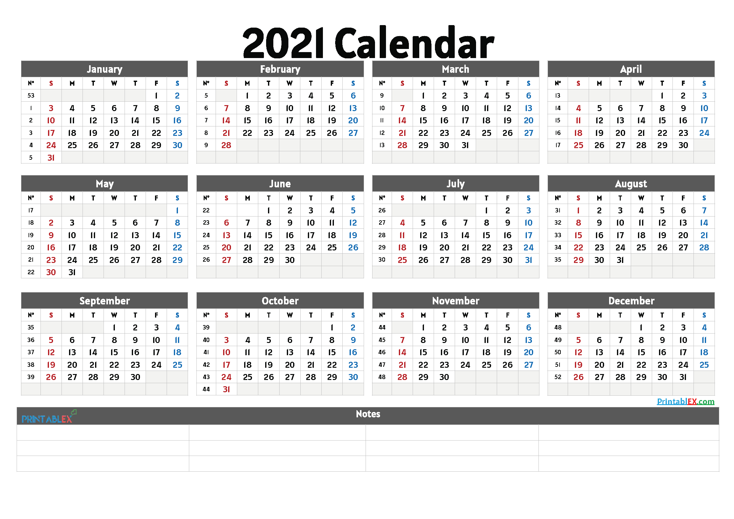 2 Year Annual Calendar Printable 2020 And 2021 | Printable-2 Page Printable Yearly Calendar Template 2021