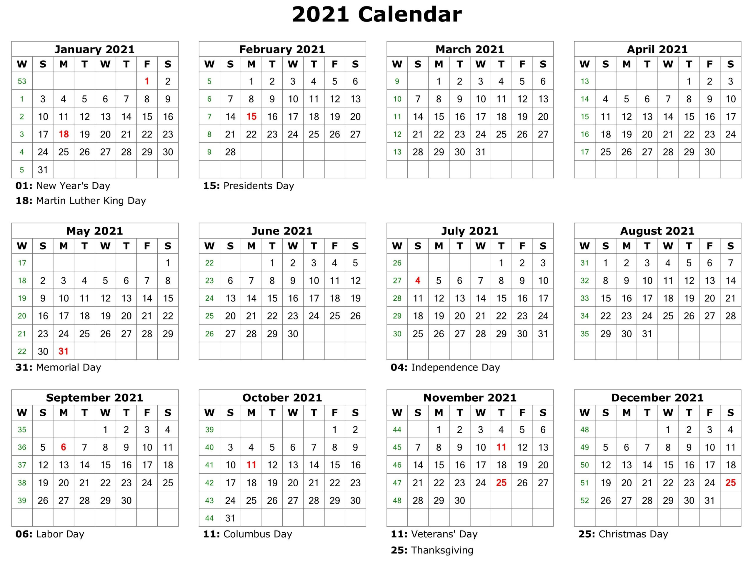 20+ 2021 Holidays - Free Download Printable Calendar-Philippine 2021 Calendar.pdf