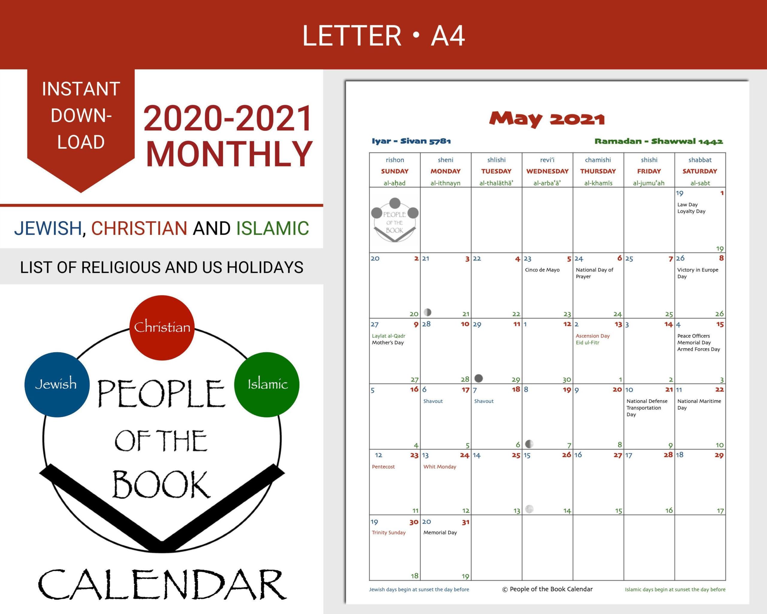 20+ 2021 Religious Holidays - Free Download Printable-Printable Hebrew Calendar 2021