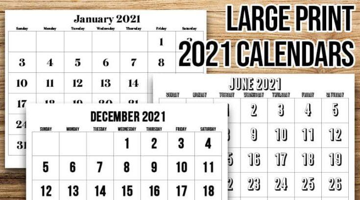 20 Free Printable 2021 Calendars - Lovely Planner-2021 Calendar Squares To Rpint