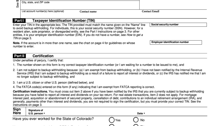 2015-2021 Form Co Dor Substitute W-9 Fill Online-Blank W9 Forms 2021 Printable Pdf