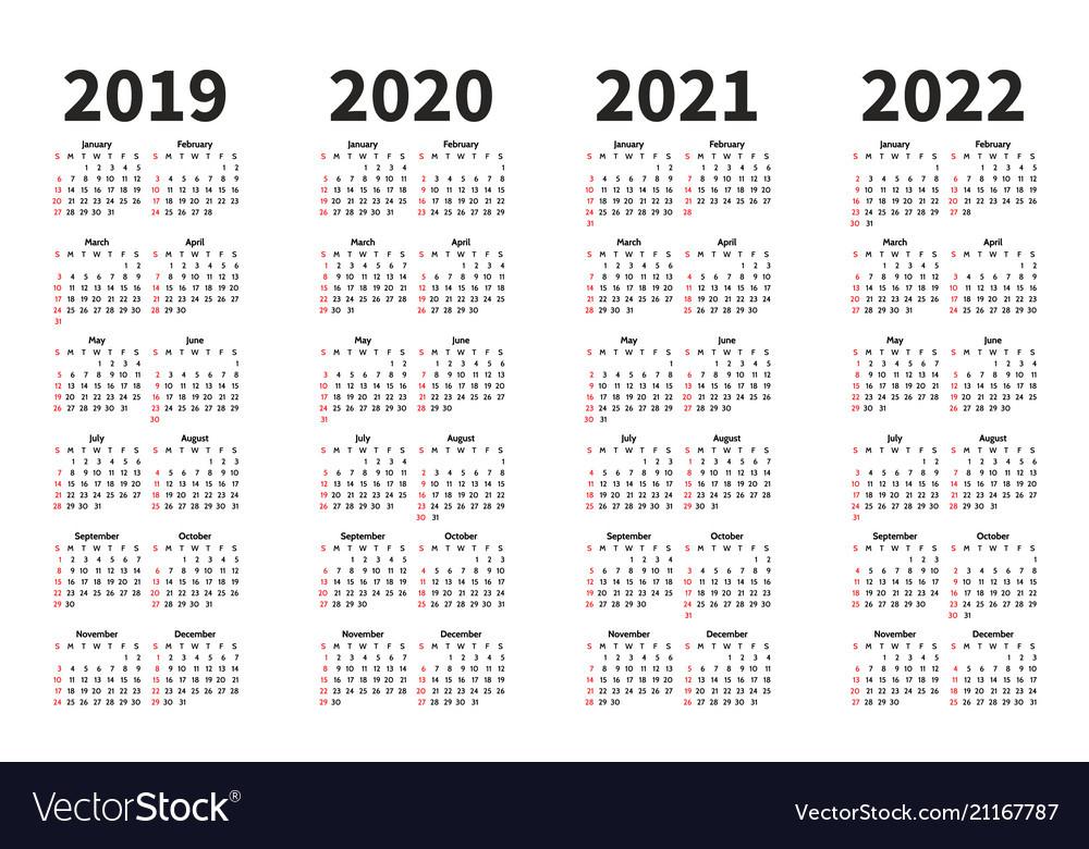 2019 2021 2022 Calendar-2021 2022 2023 Printable Calendar