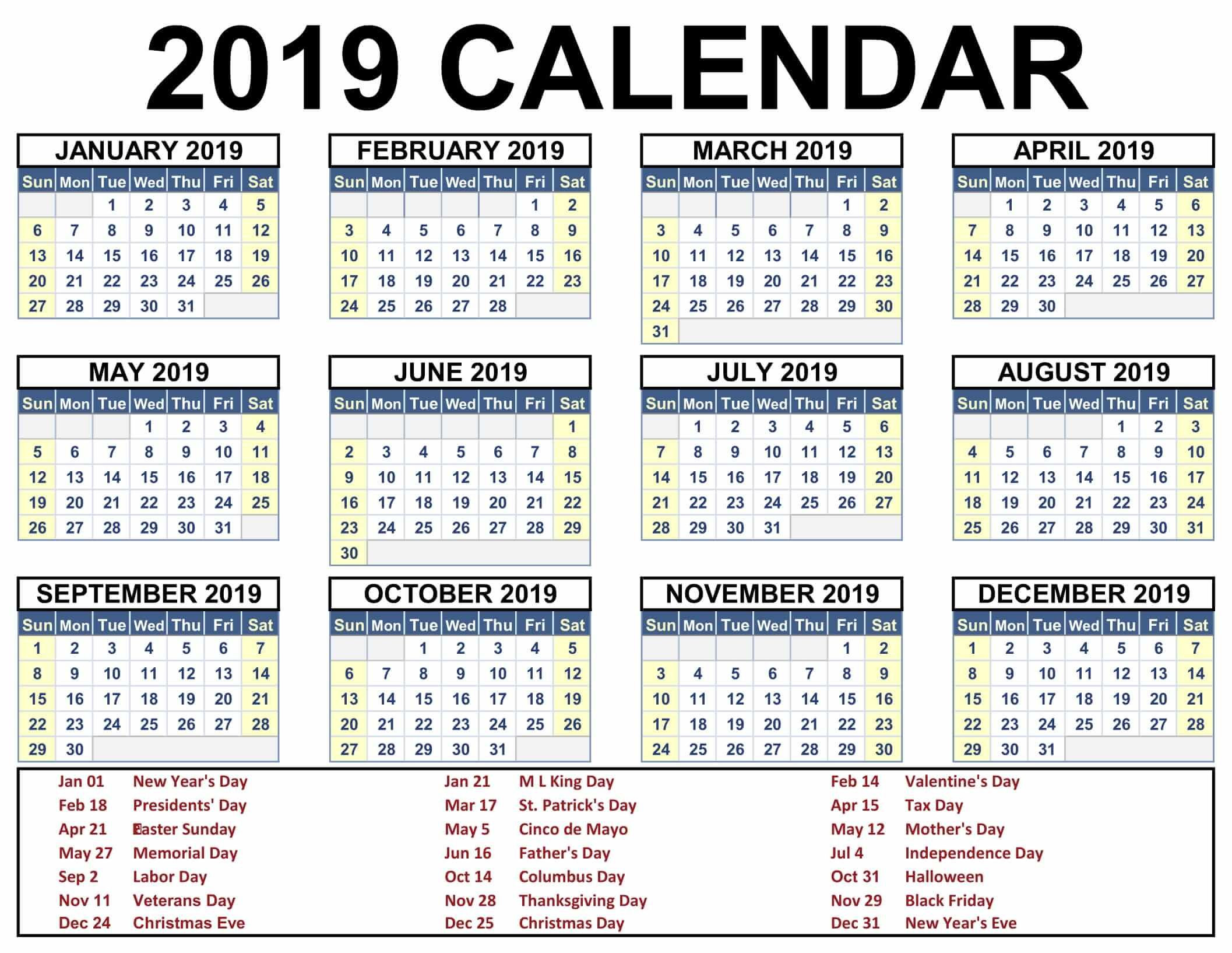 2019 Calendar With Jewish Holidays - Free Download-Pic Of Hebrew Calendar June 2021