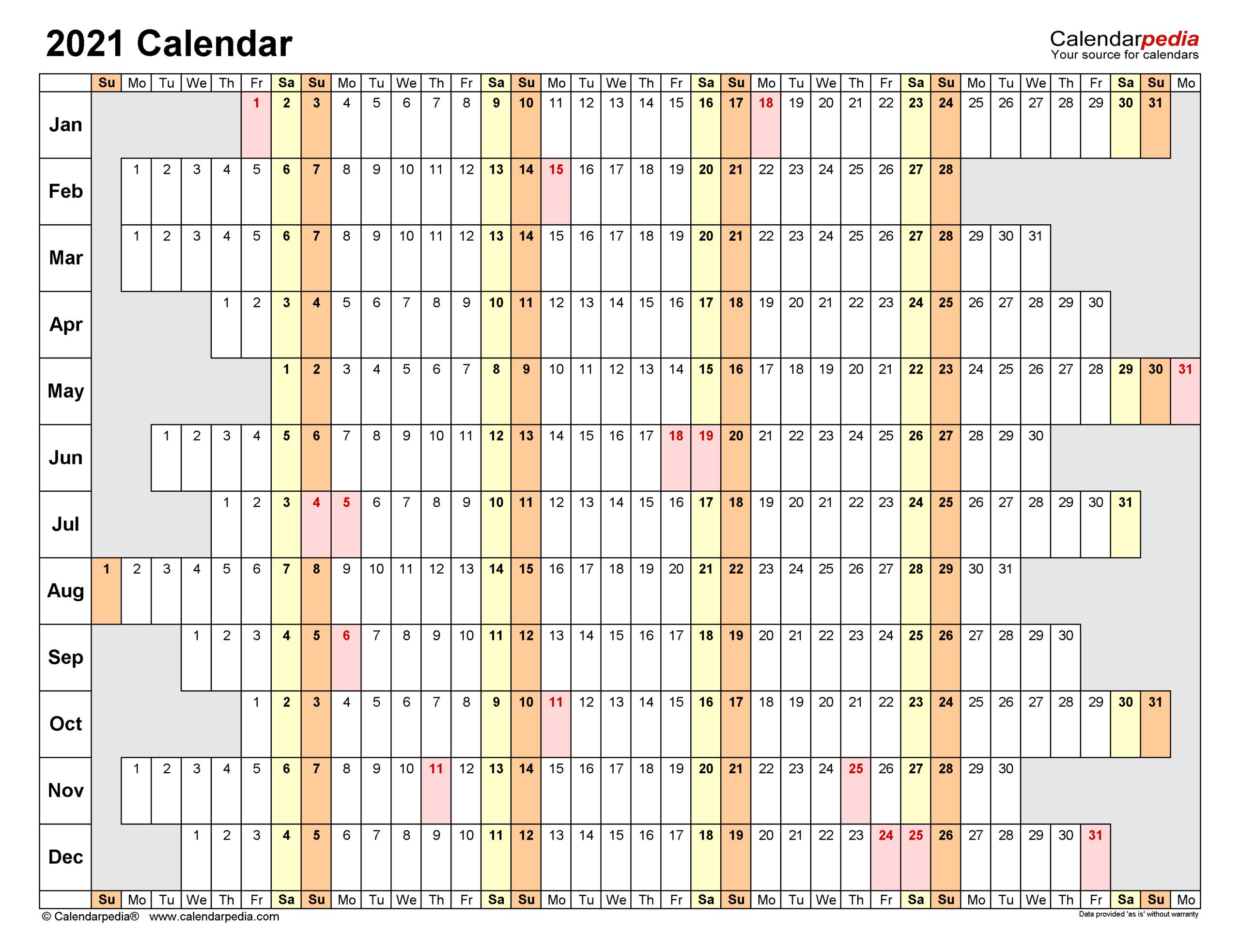 2021 Calendar - Free Printable Excel Templates - Calendarpedia-Excel Calendar Template 2021