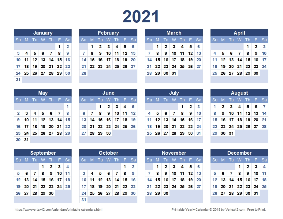 2021 Calendar Large Print | Qualads-Free Large Number Printable Calendars