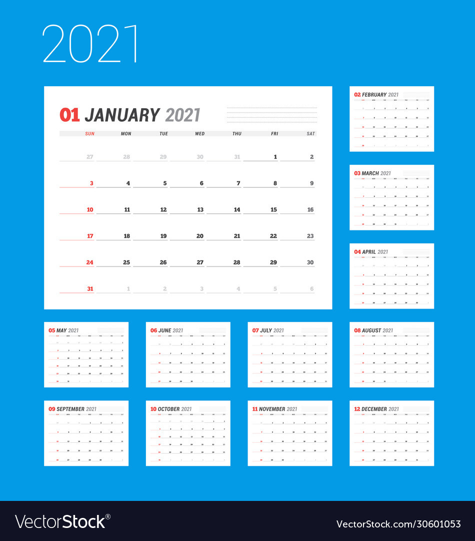 2021 Calendar Printable   12 Months All In One   Calendar 2021-2021 Calendars To Fill In And Print