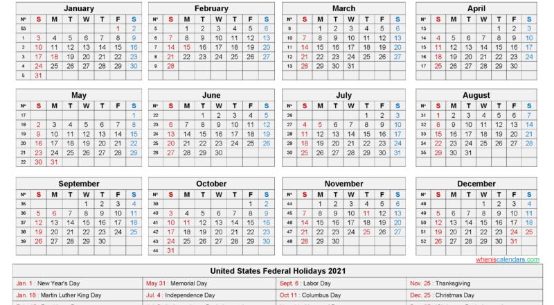 2021 Calendar Printable Pdf-2021 Monthly Calendar Printable Pdf
