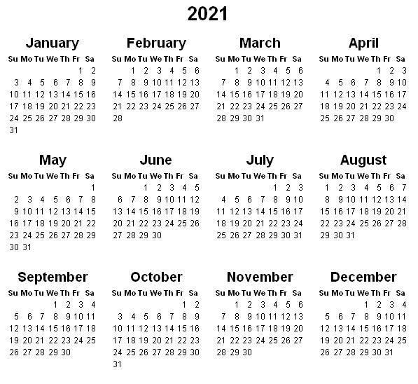 2021 Calendar Printable   Printable Calendar Design, 2021-2021 81/2 By 11 Attendance Calendar Template