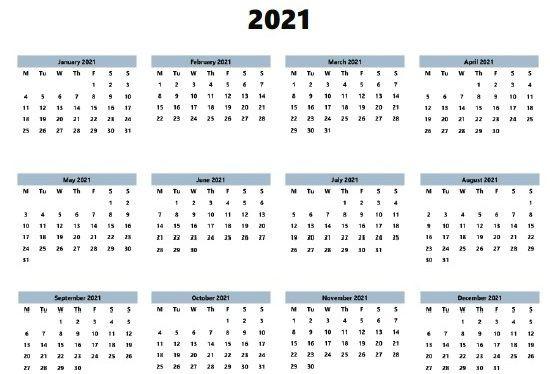 2021 Calendar Printable Template   Calendar Printables-Excel Calendar Template 2021