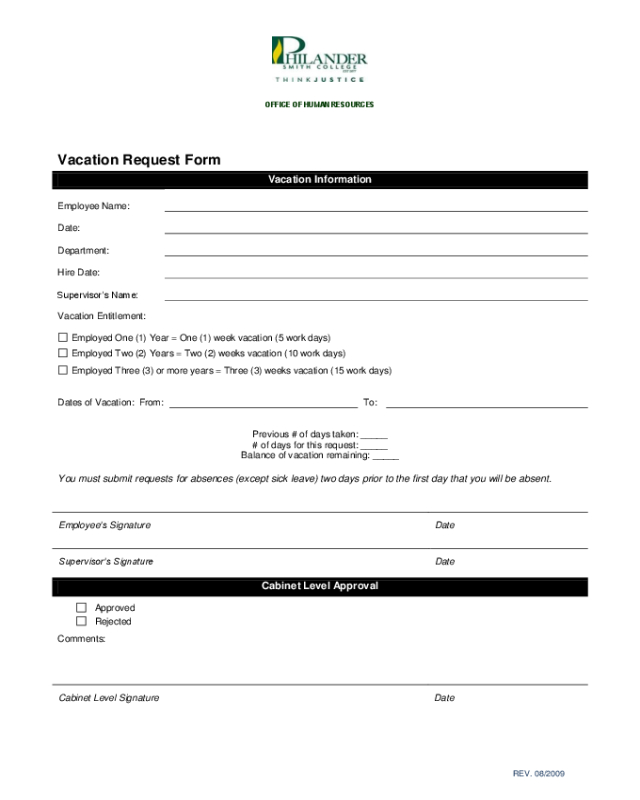 2021 Employee Vacation Request Form - Fillable, Printable-2021 Vaction Templates