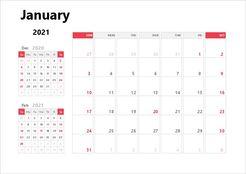 2021 Excel Calendar   Free Printable Templates-Excel Calendar Template 2021