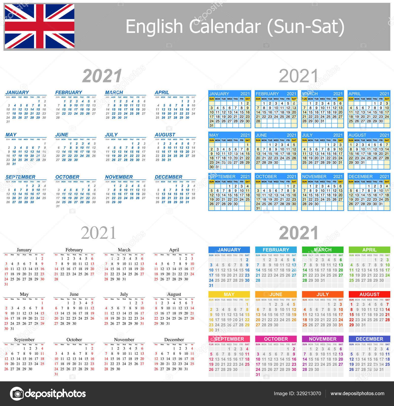 2021 Francês Mix Calendar Sun Sat Sobre Fundo Branco-Calendar 2021 Sat Thru Sunday