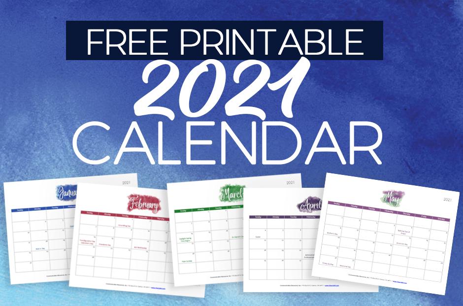 2021 Free Printable Calendar For Churches   Churchart Blog-Calendar Template 2021 Printable Free