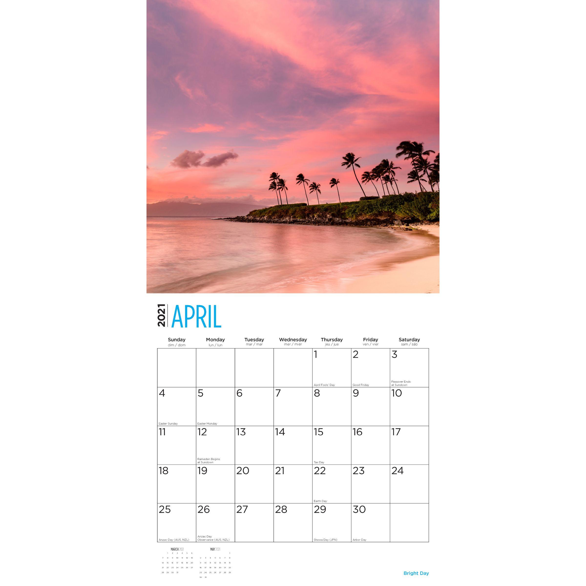 2021 Islands 12 X 12 Wall Calendar Travel Beautiful-2021 Calendar For Vacation