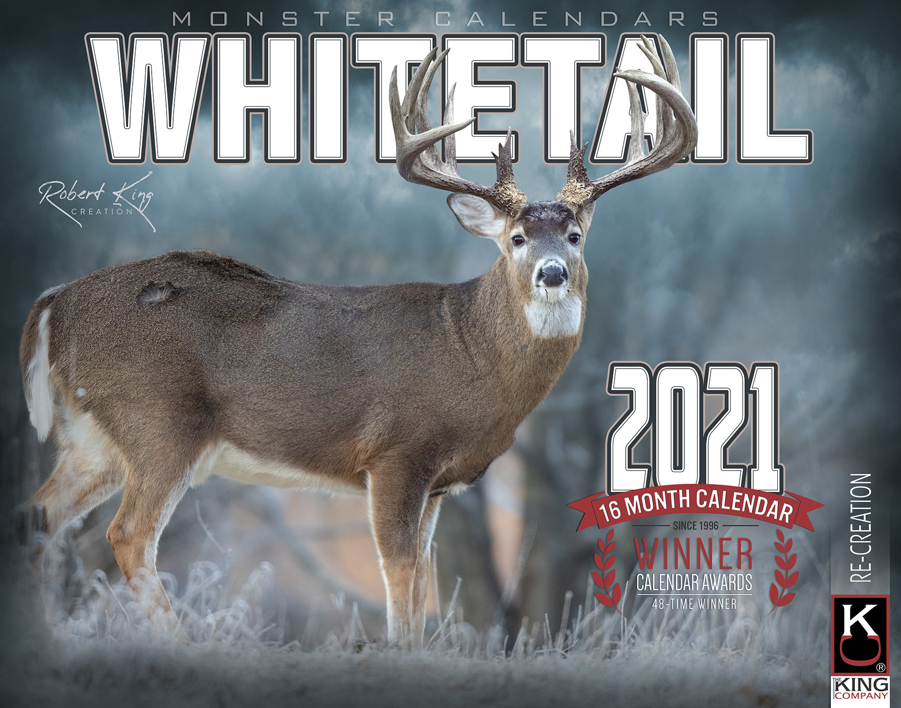 2021 Monster Whitetail Deer Wall Calendar - Signature-Whitetail Rut Peak 2021