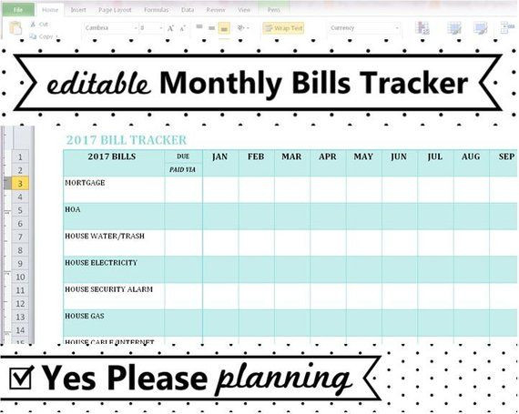 2021 Monthly Bill Tracker Expense And Bill Payment Log-Monthly Bill Spreadsheet Templates 2021