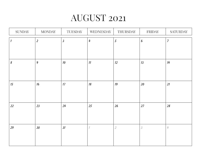 2021 Monthly Calendar With Holidays Sunday-Saturday   Etsy-Calendar 2021 Sat Thru Sunday