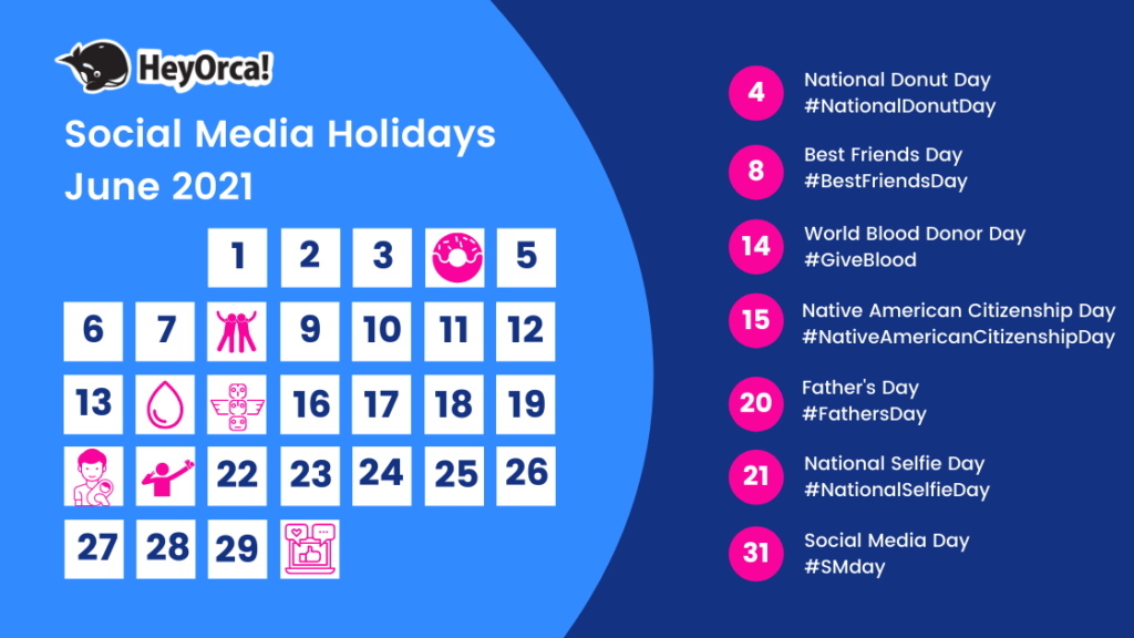 2021 Social Media Holiday Hashtag Guide + List Of 263-National Wellness Calendar 2021