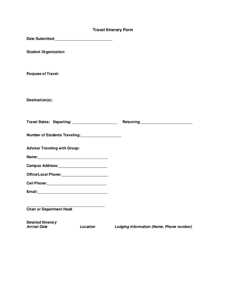 2021 Travel Itinerary Template - Fillable, Printable Pdf-2021 Vaction Templates