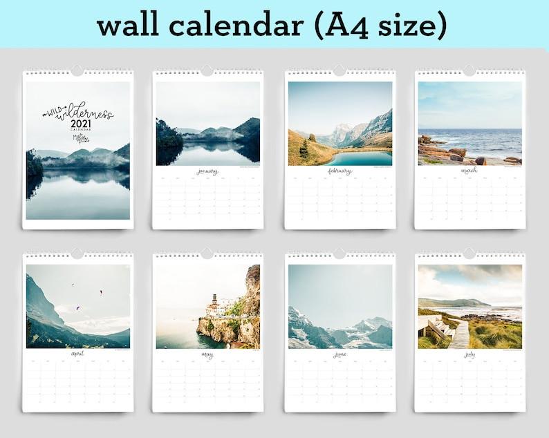 2021 Wall Calendar Travel Calendar 2021 Desk Calendar-2021 Calendar For Vacation