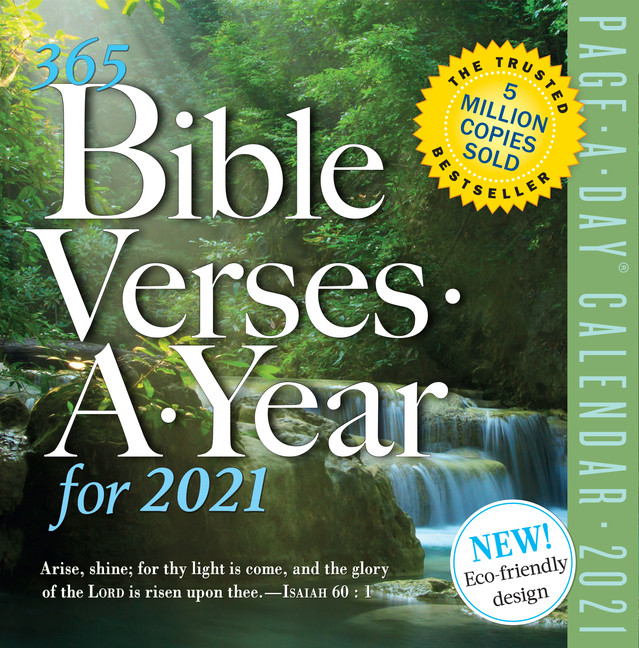 365 Bible Verses-A-Year Page-A-Day Calendar 2021 - Walmart-Day To Day Calendar 2021