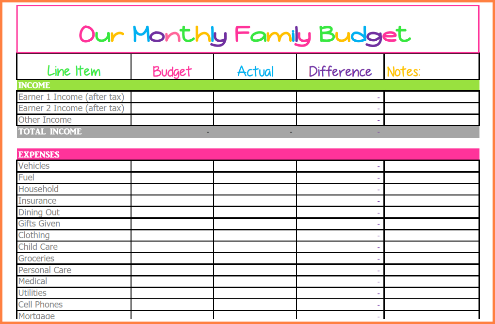 9+ Budget Spreadsheet Monthly | Excel Spreadsheets Group-Monthly Bill Spreadsheet Templates 2021