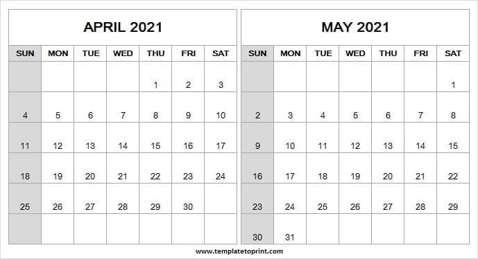 April And May 2021 Calendar | Blank Calendar 2021 Editable-Editable Calendar October 2021 Sunday Through Saturday