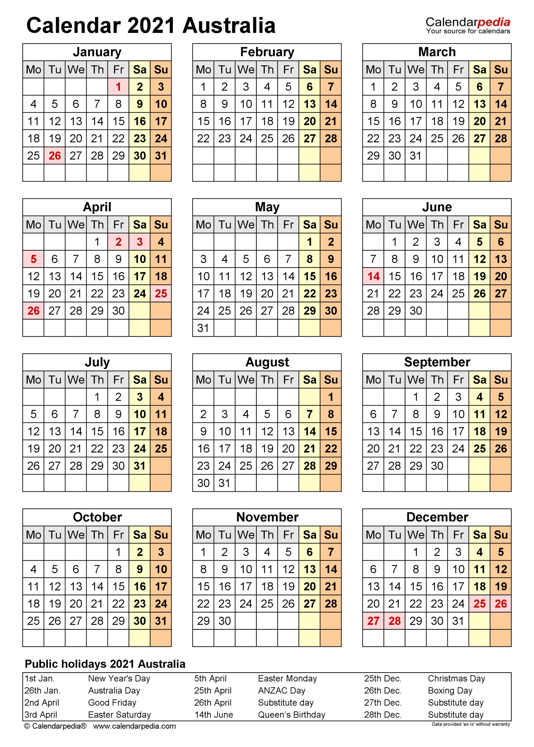 Aus Federal Holiday Calendar 2021   Printable March-2021 Vacation Calendars