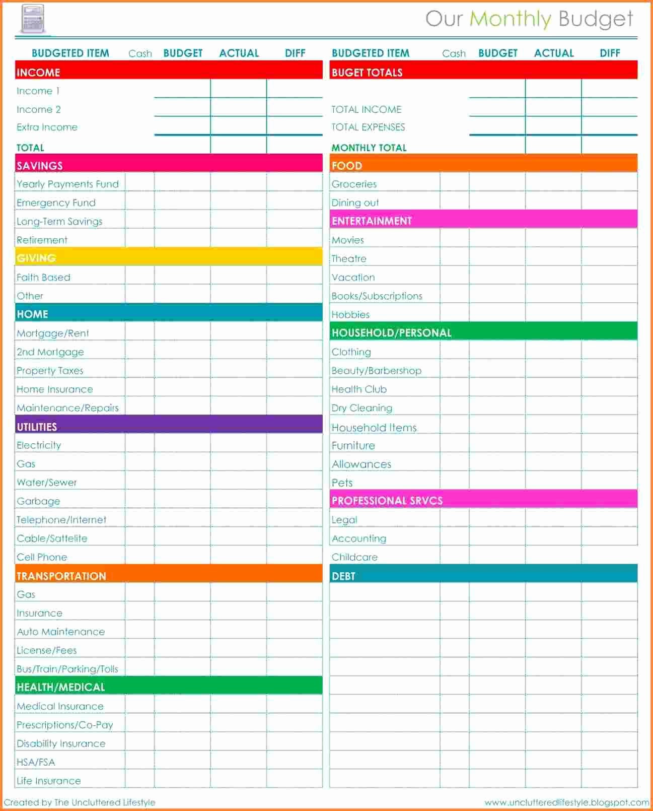 Awesome Monthly Bills Spreadsheet Template | Audiopinions-Monthly Bill Spreadsheet Templates 2021