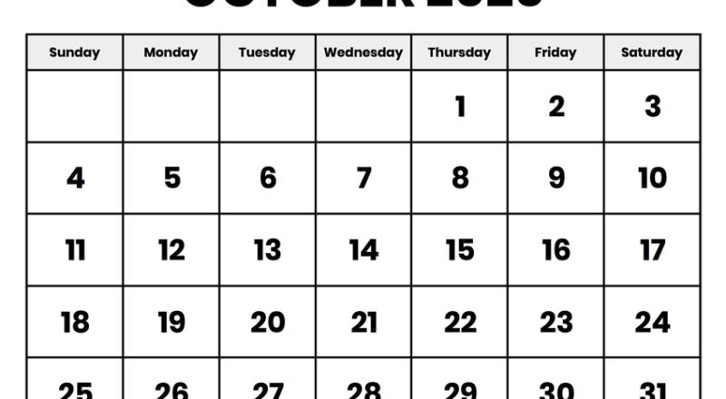 Blank Calendar October 2020 | Printable October Calendar-Running Calendars October 2021 Fill In