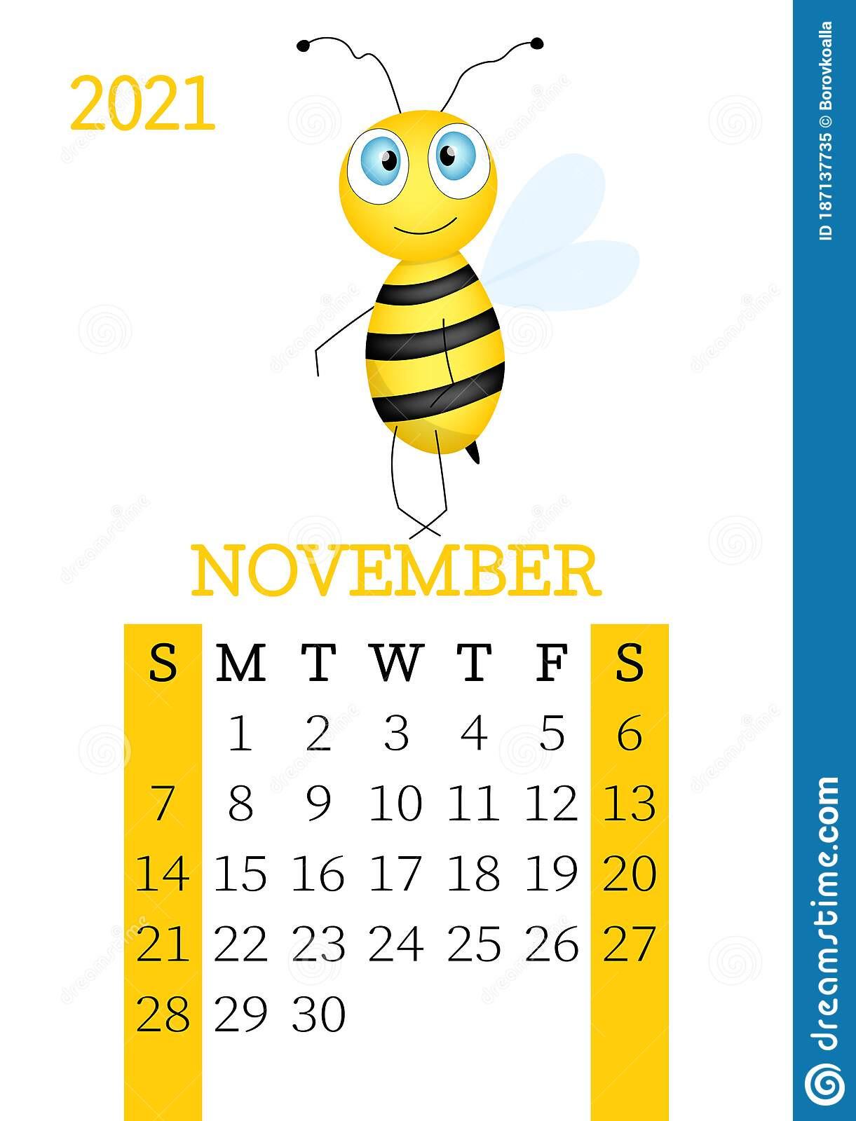 Calendar 2021. Monthly Calendar For November 2021 From-Calendar 2021 Sat Thru Sunday