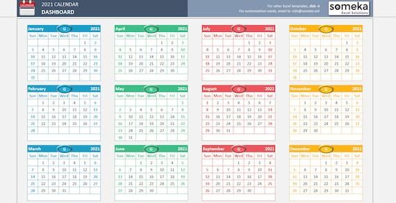 Calendário 2021 Excel - Calendario Excel Come-Excel Calendar Template 2021
