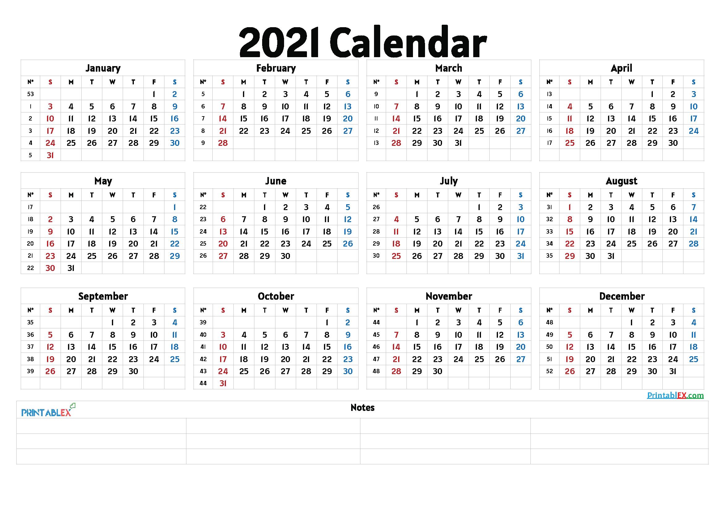 Cute 2021 Printable Blank Calendars - Free Printable 2021-2021 Absentee Calendar