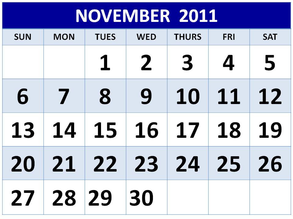 Daily Cool Pictures Gallery: 2011 Calendar Printable-Free Large Number Printable Calendars