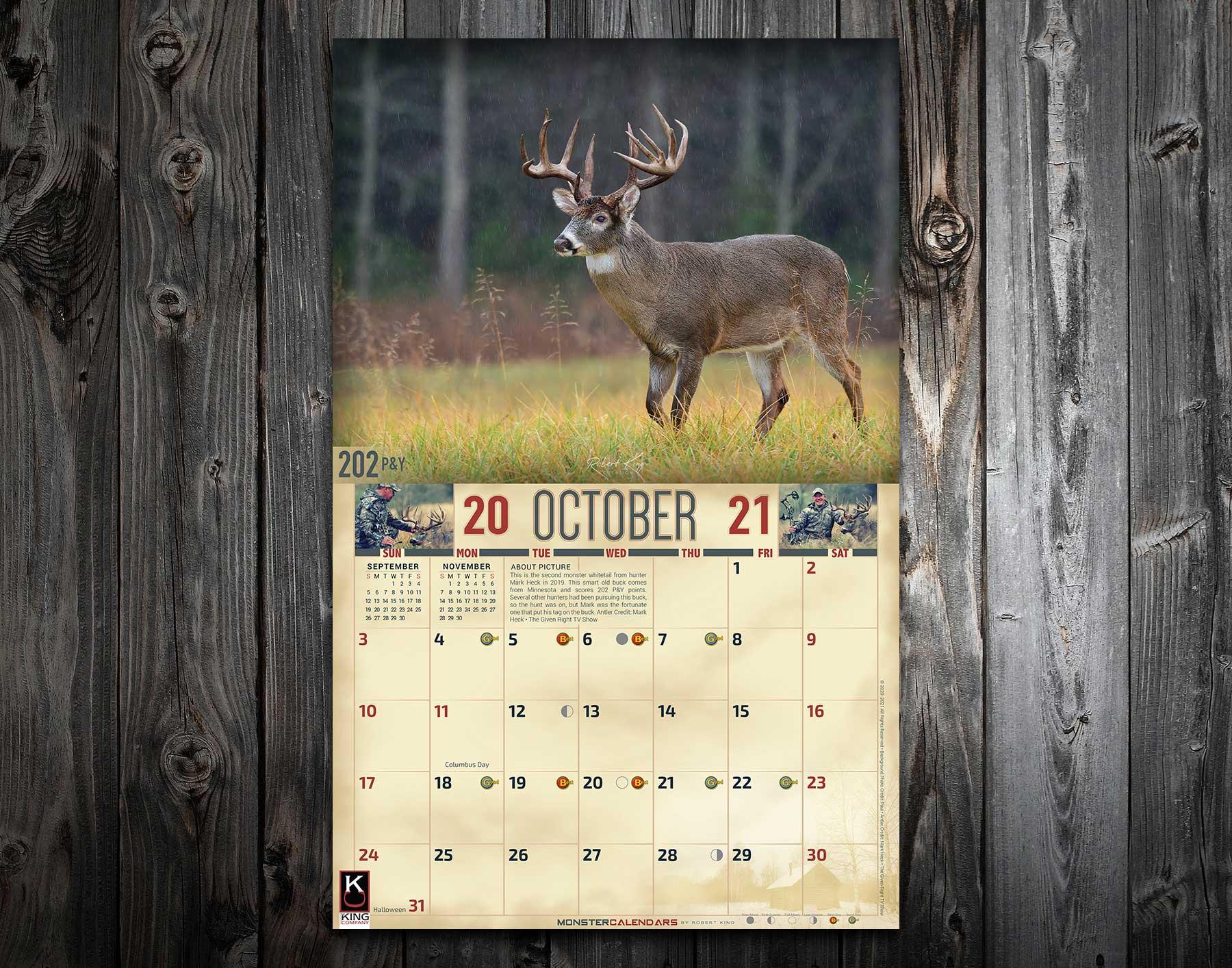 Deer Rut Calendar 2021 | 2022 Calendar-Whitetail Rut Peak 2021