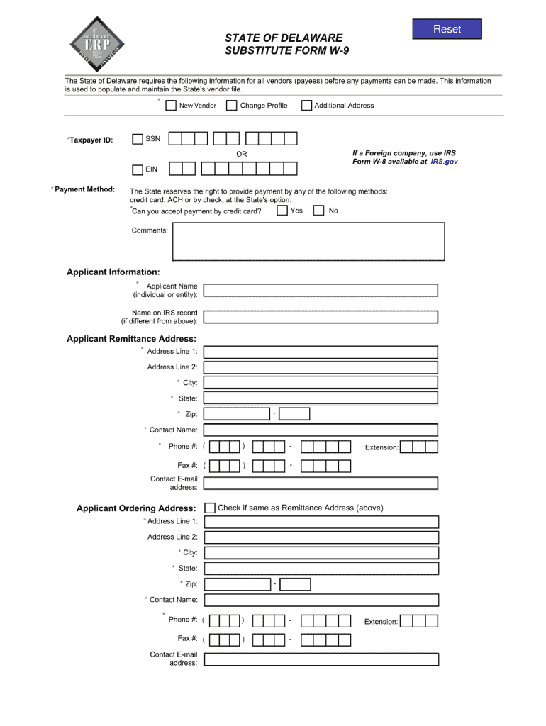 Delaware W9 Printable Form | W-9 Form Printable, Fillable 2021-2021 W9 Fillable