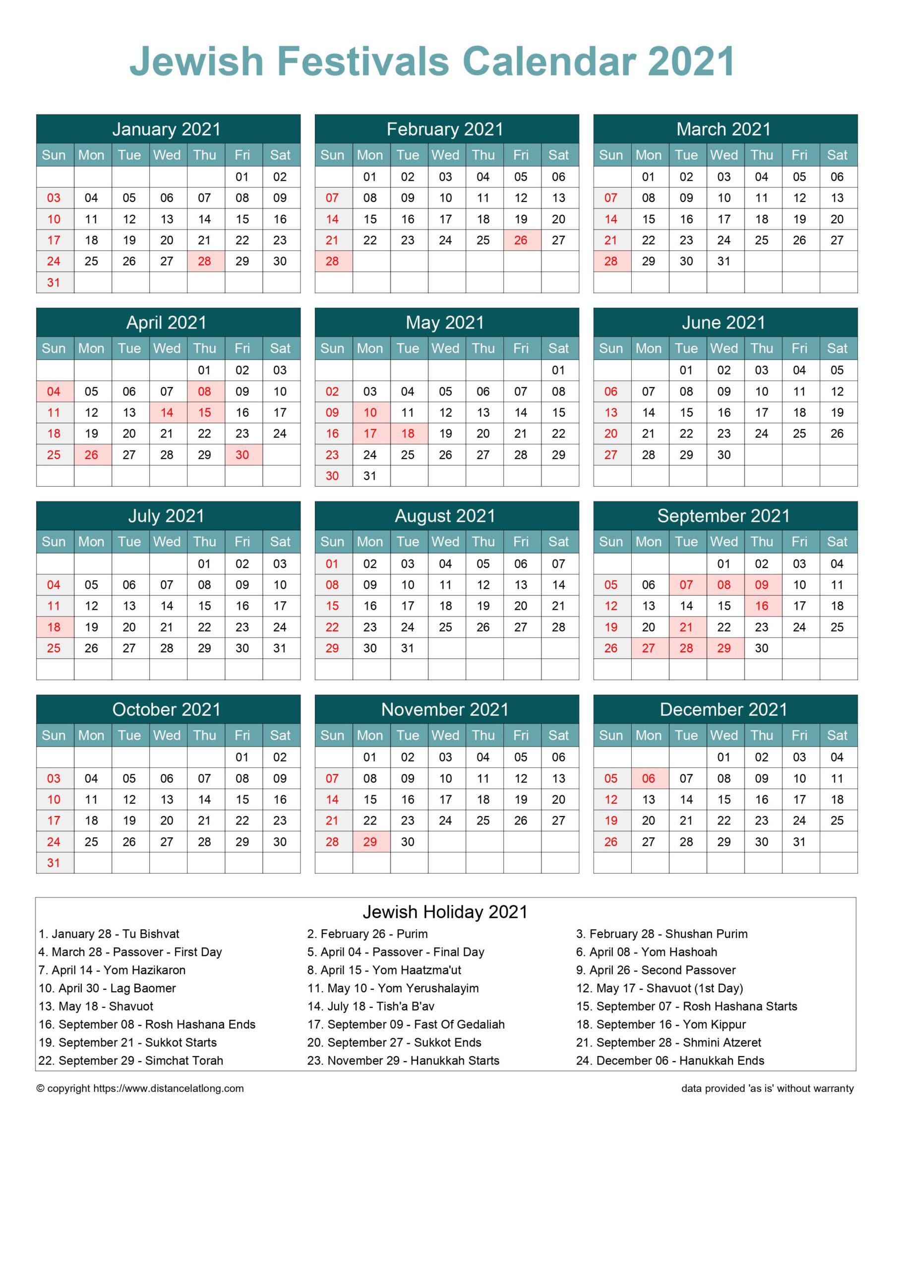 Downloads: 0 Version: 2021 File Size: 184 Kb-Printable Hebrew Calendar 2021