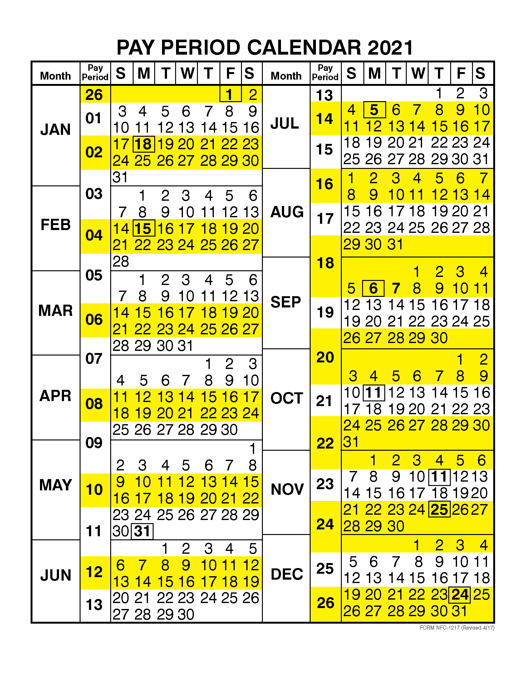 Federal Government Pay Calendar 2020 Opm | Payroll-2021Biweekly Payroll Calendar Template