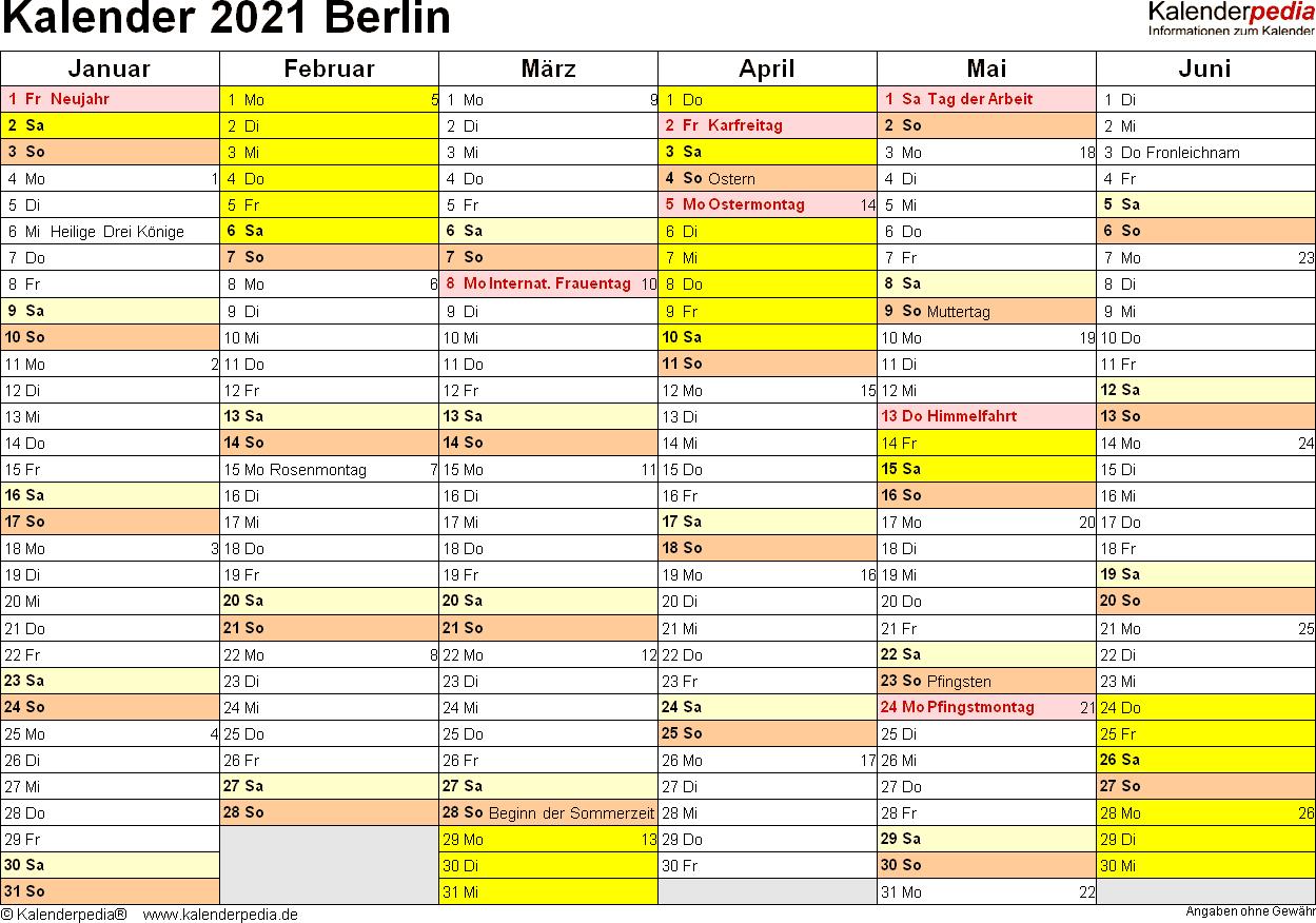 Ferien 2021 - Markische Grundschule Staatliche Europa-Kalender 2021 Planer Zum Ausdrucken