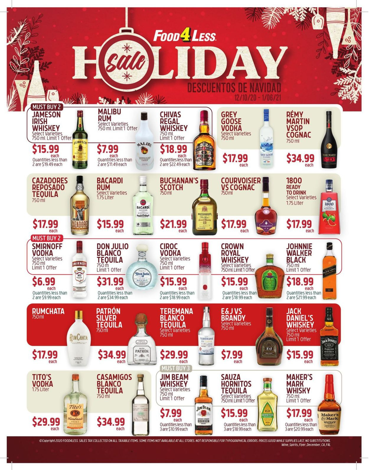 Food 4 Less Holiday Sale 2020 Current Weekly Ad 12/10 - 01-Food Holidays 2021