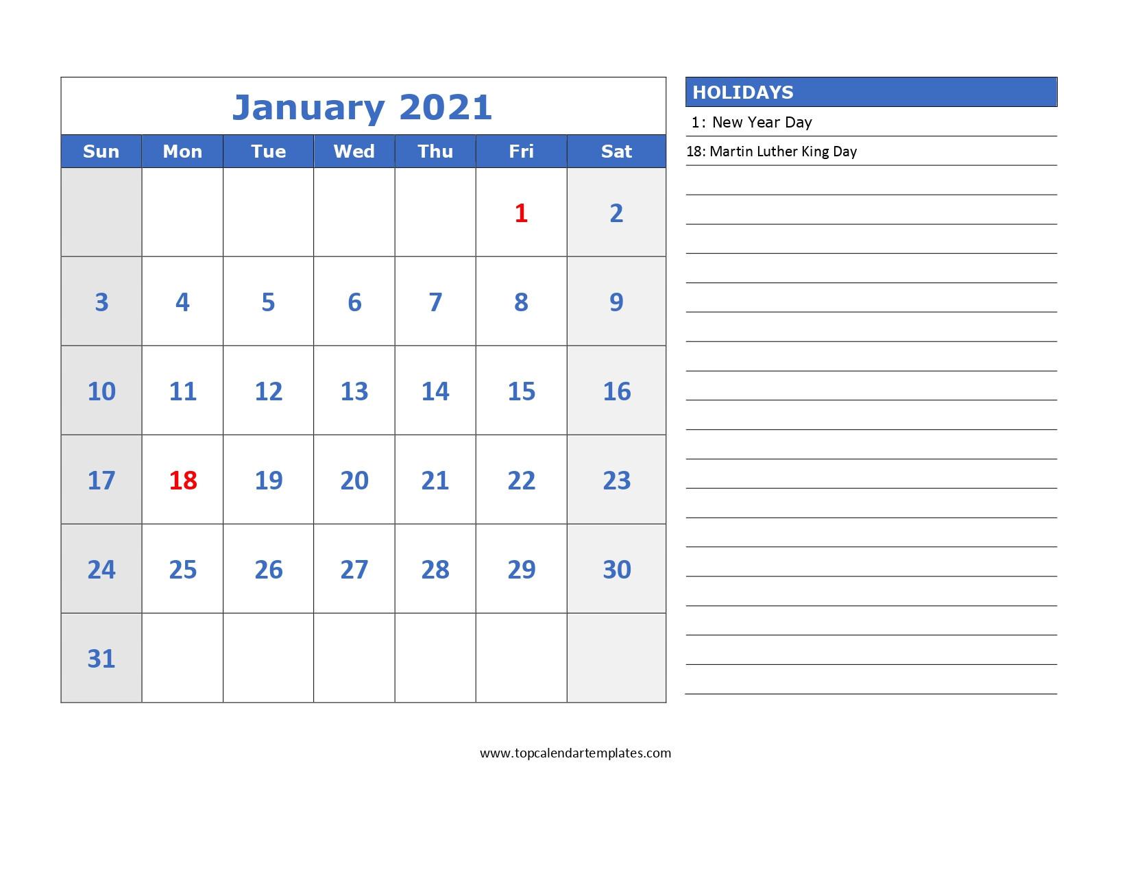 Free Blank Calendar 2021 Printable | Free Letter Templates-2021 Calendar Squares To Rpint