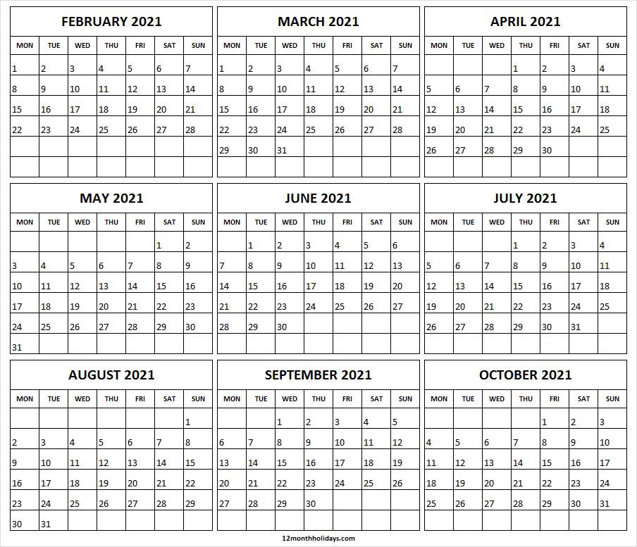 Free Editable Calendar 2021 / Editable Printable Calendar-Microsoft Word Calendar Template 2021