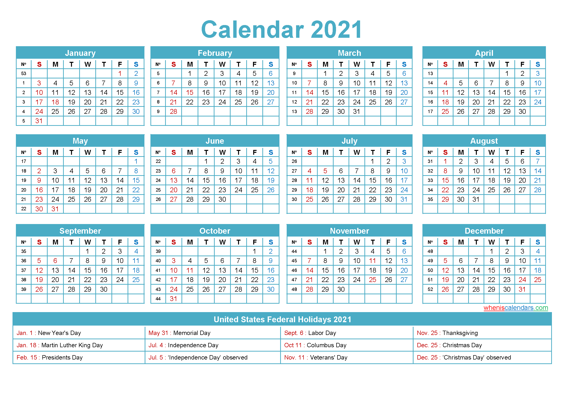 Free Editable Printable Calendar 2021 - Template No.ep21Y5-2021 Calendars To Fill In And Print