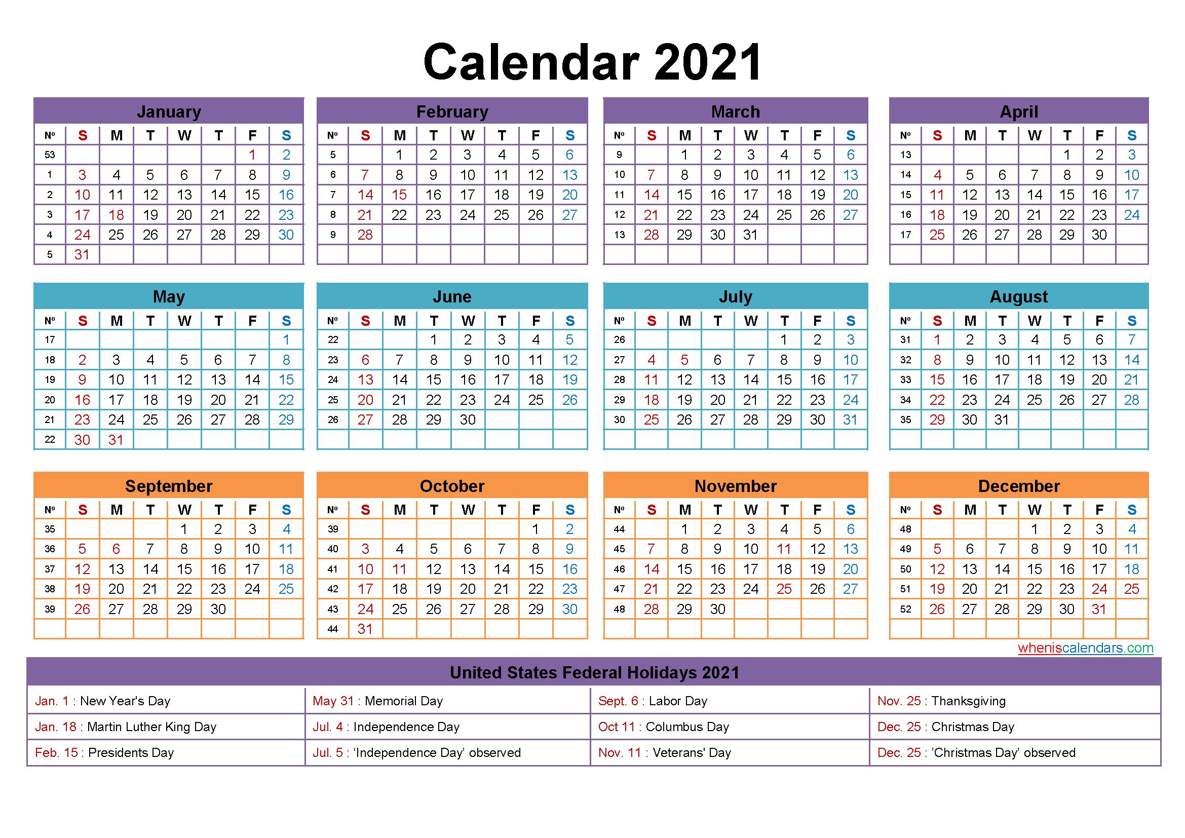 Free Editable Printable Calendar 2021 - Template No-Microsoft Word Calendar Template 2021