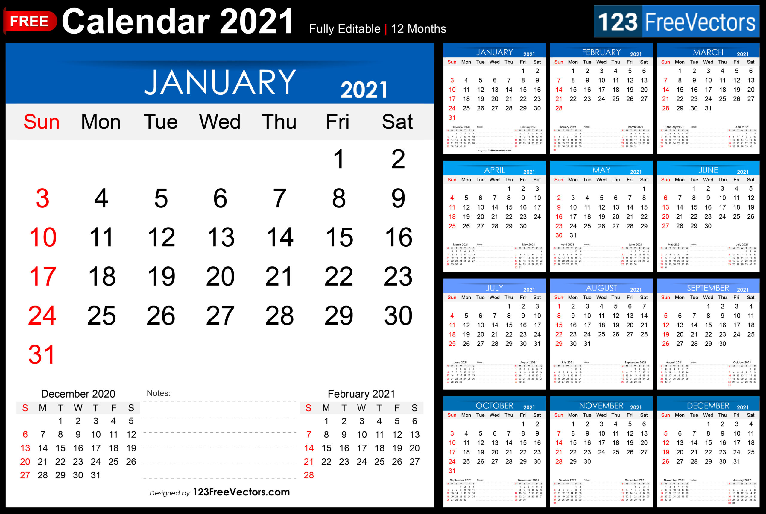 Free Free Printable 2021 Monthly Calendar-Printable Month To Month Calendar 2021