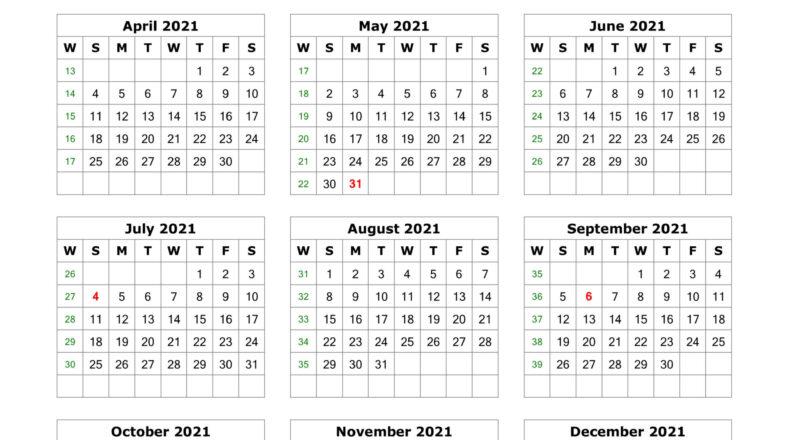 Free Printable 1 Page 2021 Calendar-2021 Printable 2 Page Monthly Calendar
