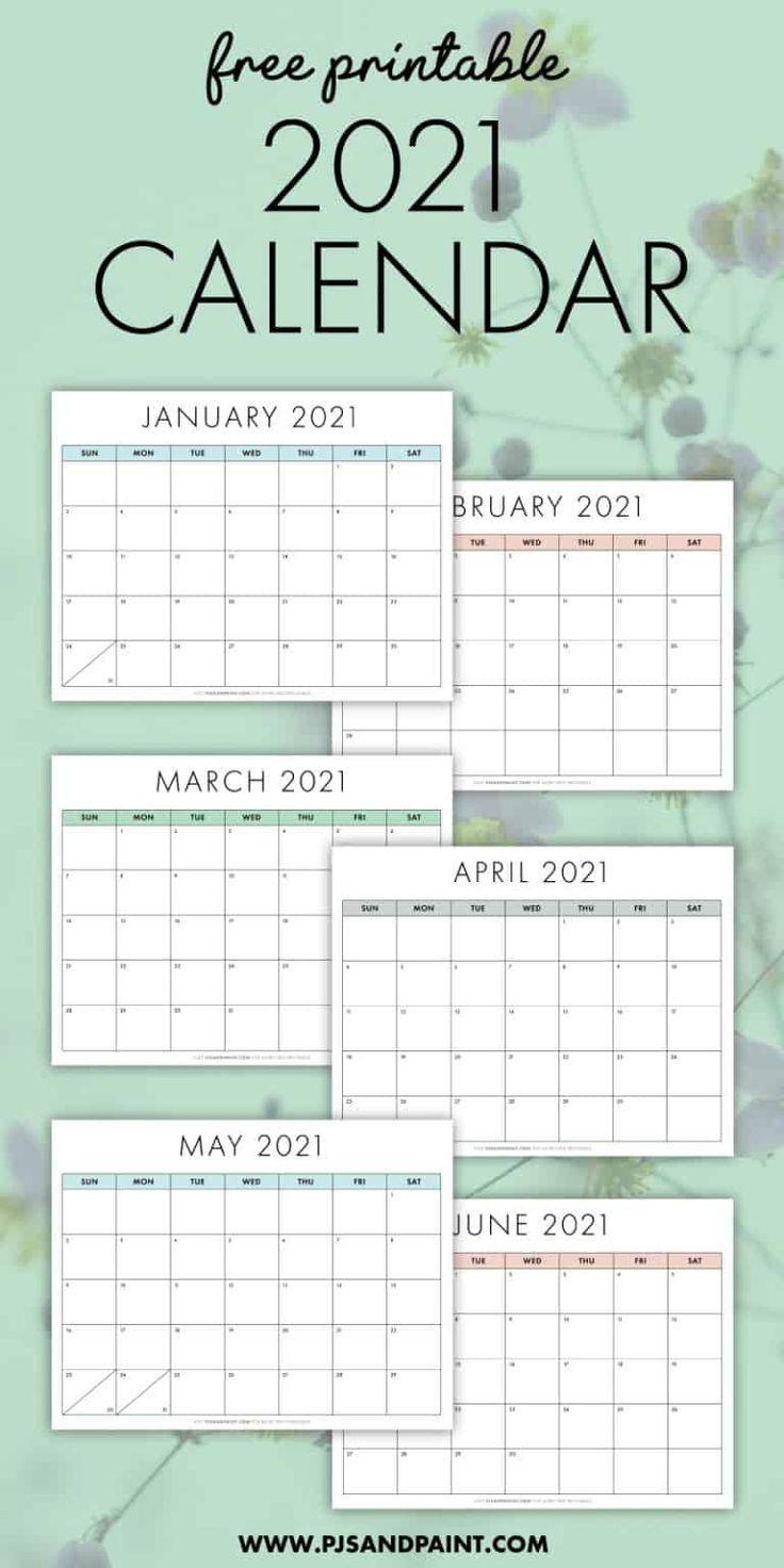 Free Printable 2021 Calendar - Sunday Start - Pjs And-Editable Calendar October 2021 Sunday Through Saturday