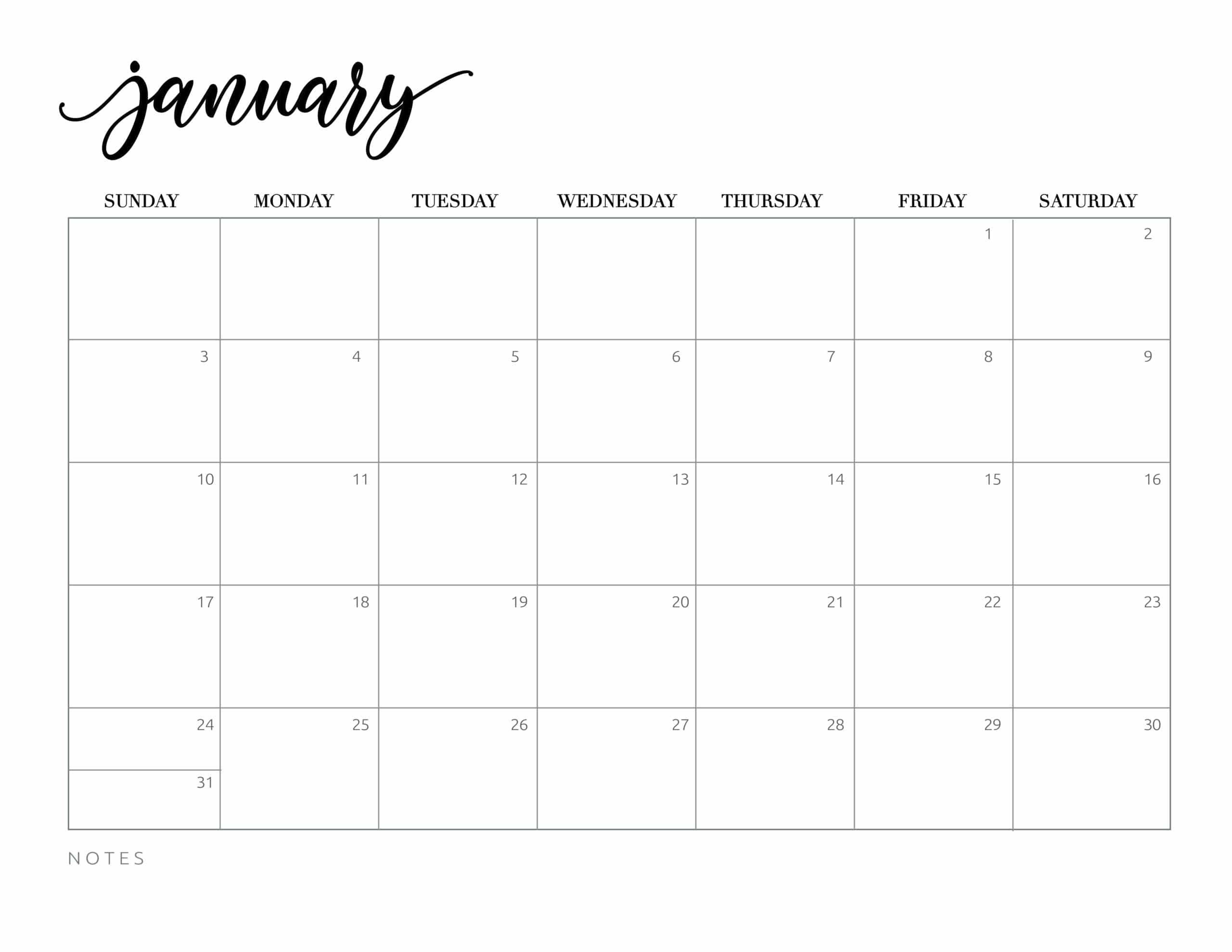 Free Printable 2021 Calendar - World Of Printables-2021 Calendars To Fill In And Print